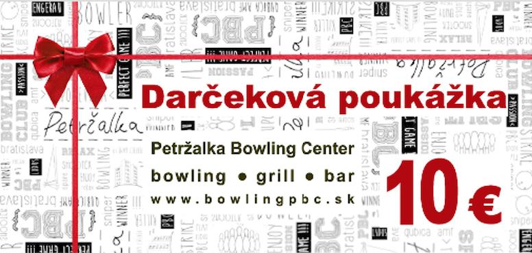 Darčekové poukážky na bowling v predaji!