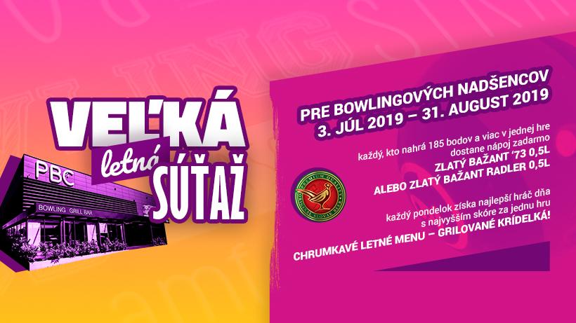 Aj tento rok sme pre vás pripravili letnú súťaž. Hrajte o nápoje a grilované krídelká v Petržalka Bowling Center.
